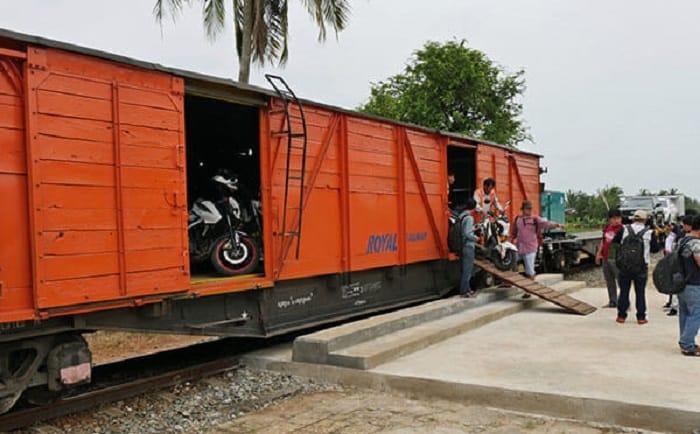 Quy trình vận chuyển xe máy từ Nam ra bắc bằng tàu hỏa