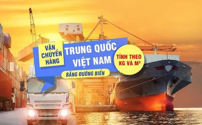Vận chuyển hàng hóa từ Trung Quốc về Việt Nam bằng đường biển
