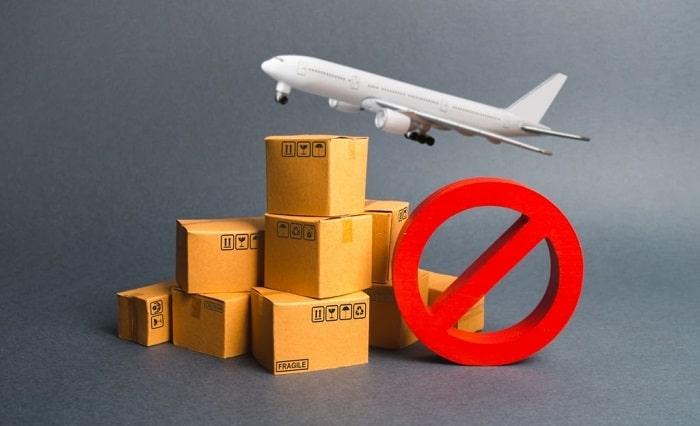 Những loại hàng hóa không được vận chuyển bằng đường hàng không